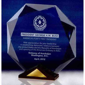 Custom Imprinted Octagon Shaped Awards