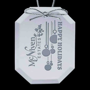 Octagon Shaped Promotional Items - Octagon Shaped Christmas Ornaments