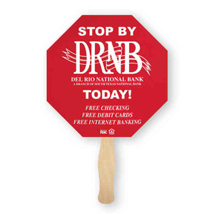 Octagon Shaped Promotional Items - Octagon Shaped Fans