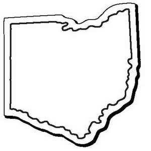 Custom Imprinted Ohio Shaped Magnets