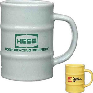 Custom Imprinted Oil Barrel Ceramic Coffee Mugs