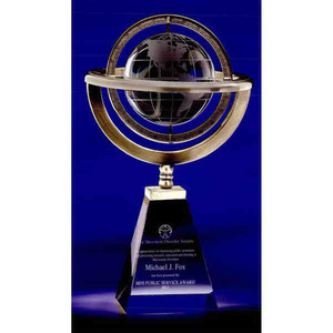 Custom Imprinted Omni Globe Crystal Awards