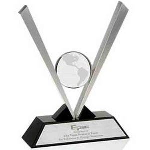Custom Engraved Optical Crystal Globe Awards!