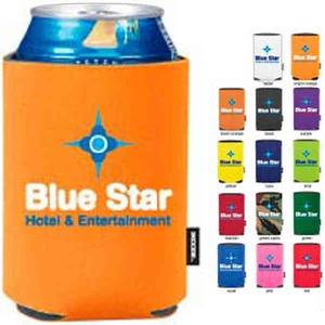 Custom Designed Orange Color Can Coolers!