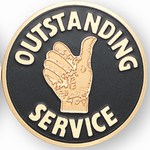 Outstanding Sales Person Emblems and Seals Outstanding Service Emblems ...