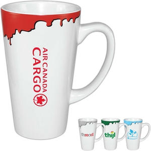 Custom Imprinted Paint Drip Mugs