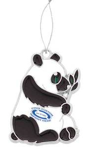 Customized Panda Bear Plush Ornaments