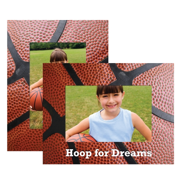 Personalized Basketball Paper Picture Frames!