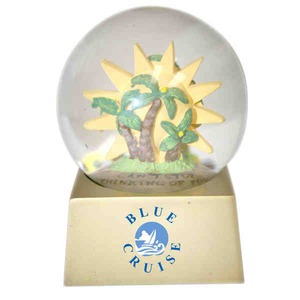 Stock Snow Globes - Paradise Shaped Stock Snow Globes