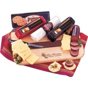 Custom Printed Party Food Perishable Cheese and Sausage Food Gifts!
