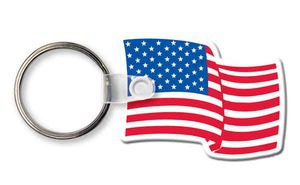 Custom Imprinted Patriotic Flag Key Rings!