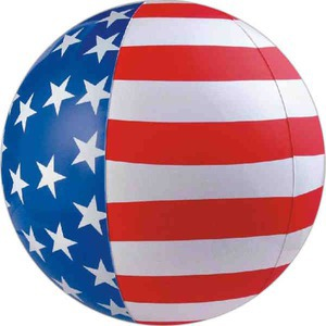 Patriotic Themed Promotional Items - Patriotic Themed Beach Balls