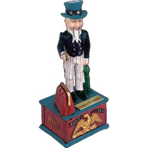 Patriotic Themed Promotional Items - Patriotic Themed Mechanical Banks