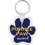 Custom Printed Paw Shaped Key Tags!