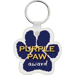 Custom Imprinted Paw Shaped Key Tags!