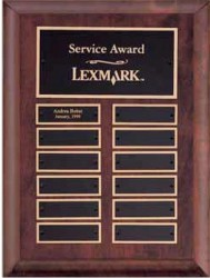 Custom Imprinted Cherry Finish Perpetual Plaque