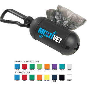 Pet Themed Promotional Items - Pet Waste Bag Dispensers with Carabiners
