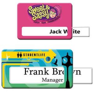 Custom Imprinted Photo Quality Name Badges!