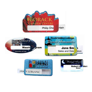 Custom Printed Photo Quality Window Name Badges!