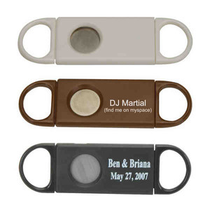 Custom Imprinted Plastic Cigar Cutters!