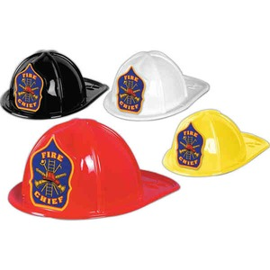 Custom Imprinted Plastic Fire Chief Hats