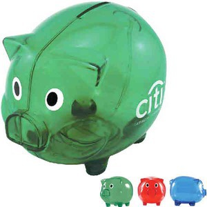 Personalized Plastic Piggy Banks