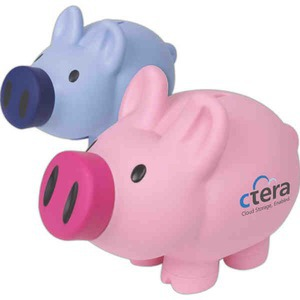 Personalized Plastic Piggy Banks!