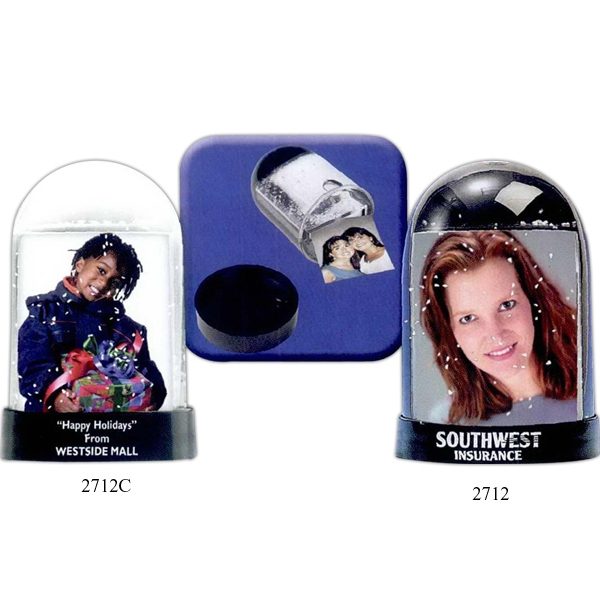 Custom Imprinted Clear Front Photo Snow Globes!
