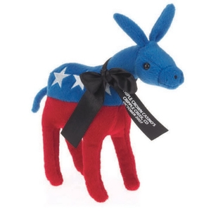 Custom Imprinted Democratic Donkey Plush Animal