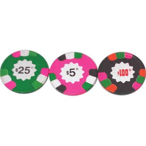 Las Vegas Themed Promotional Items - Poker Chip Dice Boxes