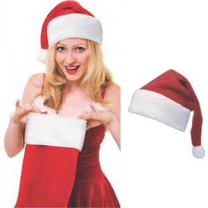 d23d8ba740814 Polar Fleece Santa Hats - Custom Designed Promotional Items ...