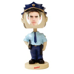 Custom Decorated Policeman Bobble Heads