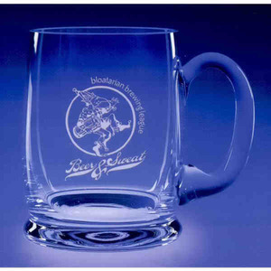 Custom Imprinted Prosit Hand Blown Mug Crystal Gifts
