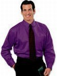 Blue Generation Twill Shirts - Blue Generation Men's Purple Twill Shirts