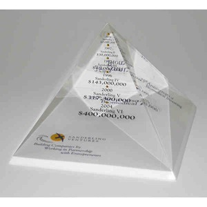 Acrylic Embedments - Pyramid Shaped Acrylic Embedments