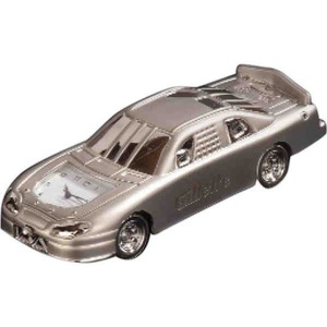 Customized Race Car Shaped Silver Metal Clocks