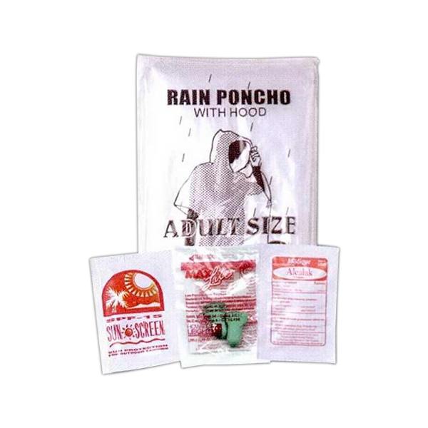 3 Day Service Rain Ponchos - 3 Day Service Racing Fan Kit Rain Ponchos
