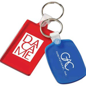 Custom Designed Rectangle Shaped Key Tags!