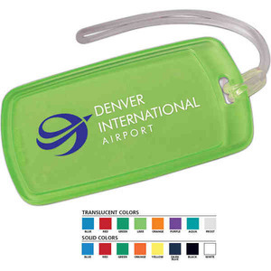 Custom Imprinted Rectangular Luggage Tags For Under A Dollar