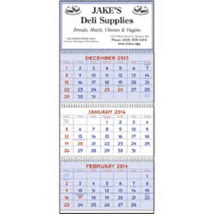 Custom Made Red and Blue Planner Commercial Calendars
