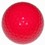 Red Color Promotional Items - Red Colored Golf Balls