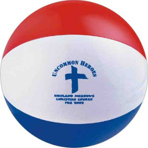 Alternating Color Beach Balls - Red White and Blue Alternating Color Beach Balls