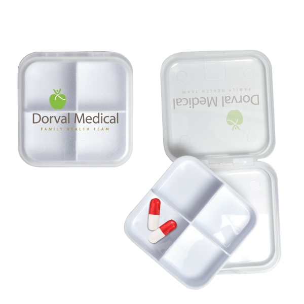 3 Day Service Shaped Pill Boxes - 3 Day Service Square Shaped Pill Holders
