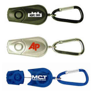 Custom Imprinted Retractable Carabiner Keychain LED Lights!