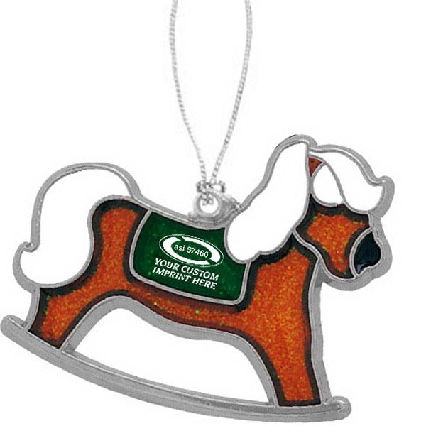 custom imprinted rocking horse christmas ornaments - Horse Christmas Ornaments