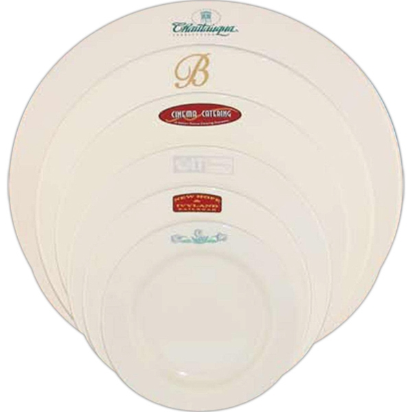 Custom Imprinted Rolled Edge Rim Dinnerware Plates!