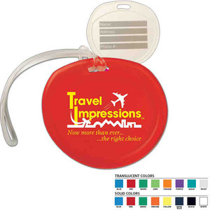 Custom Imprinted Round Luggage Tags For Under A Dollar
