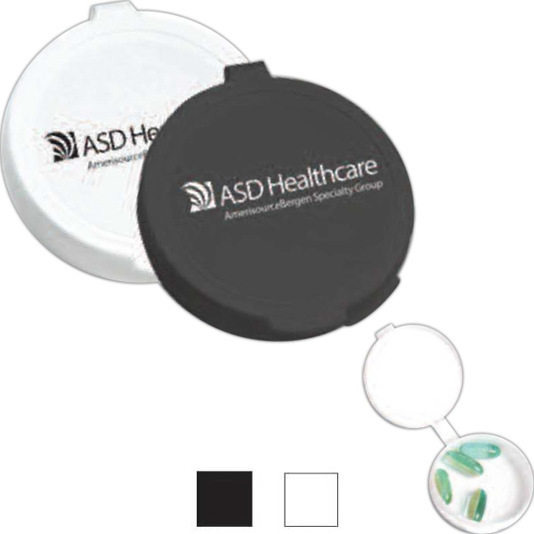 3 Day Service Shaped Pill Boxes - 3 Day Service Round Shaped Pill Cases