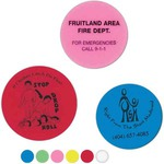 Custom Printed Round Shaped Erasers!