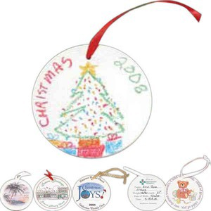 Custom Imprinted Round Shaped Porcelain Ornaments!